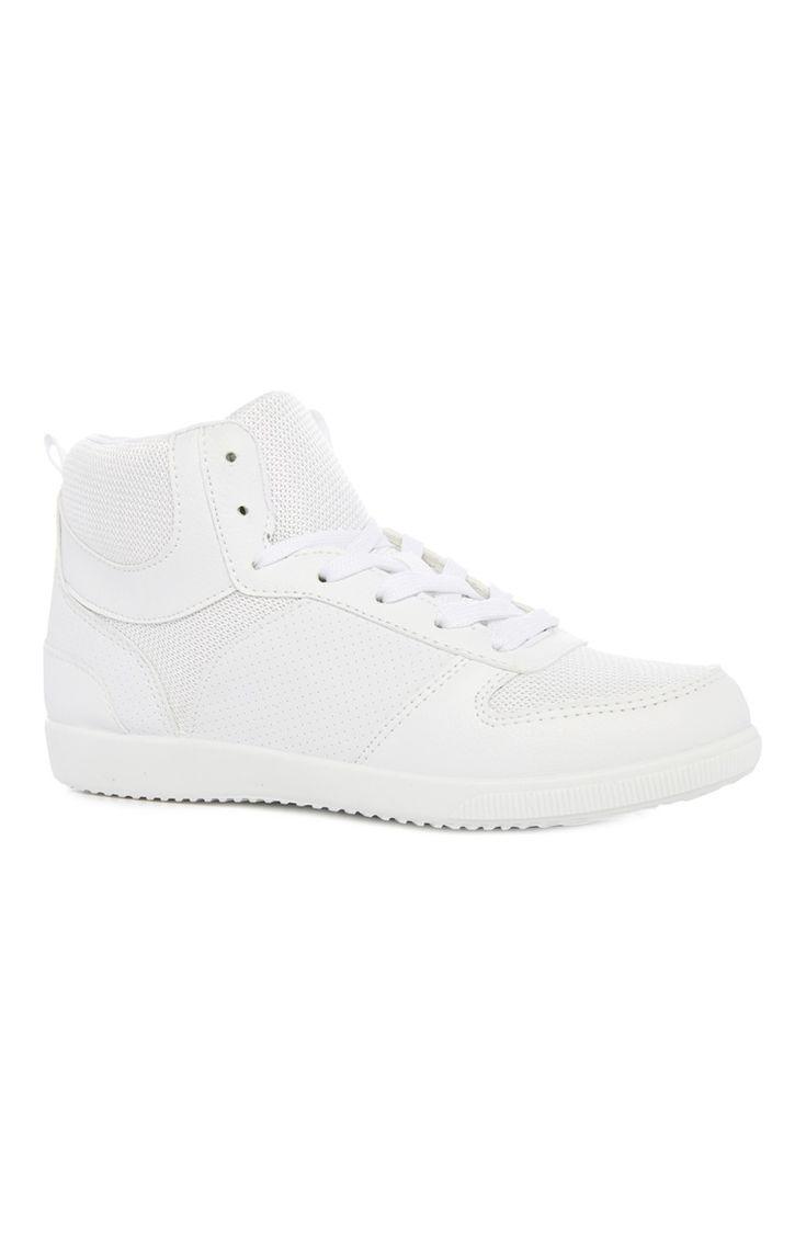 Primark - Hoge witte gympen met contrasterende accenten