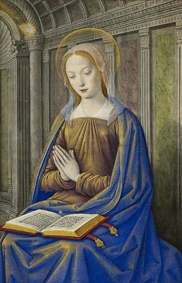 The Virgin Mary receiving the Annunciation, c.1500 by Jean Bourdichon born c.1457-59, France died 1521, France