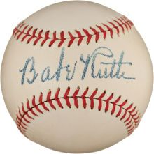Cards from the Black Swamp find took a backseat to a pristine Babe Ruth autographed baseball--and one of his bats from the famed 1927 season