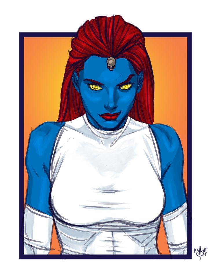X-Mas Day 5 - Mystique 12-5-2014 by SketchyMcDrawpants on DeviantArt