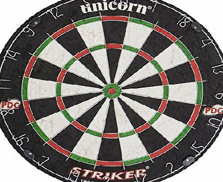 Unicorn Dartboard Striker Bristle - Black/White/Red/Green Suitable for competitive play with a quality design and tournament-level materials used, the Unicorn Striker is endorsed by Professional Darts Corporation and features a (Barcode EAN = 0717775667108) http://www.comparestoreprices.co.uk/december-2016-week-1/unicorn-dartboard-striker-bristle--black-white-red-green.asp