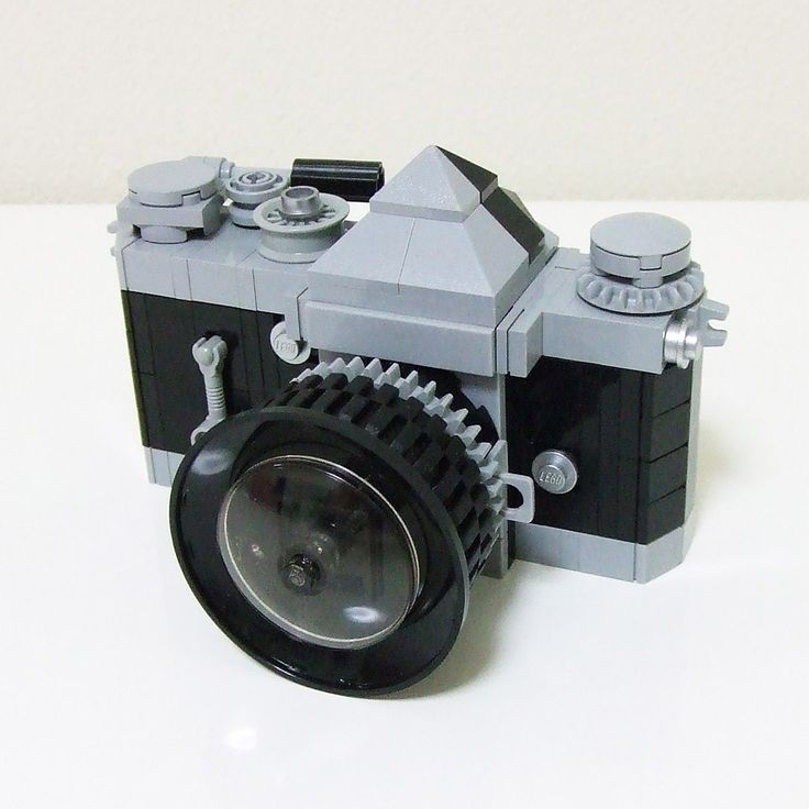 The one camera we *don't* have on our shelf — this LEGO camera that has moving parts. It was made by LEGO Suzuki!  Need.  via Reddit