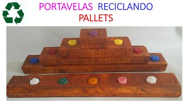 PORTAVELAS CON LISTONES DE PALET / PALLET WOOD CANDLE HOLDER