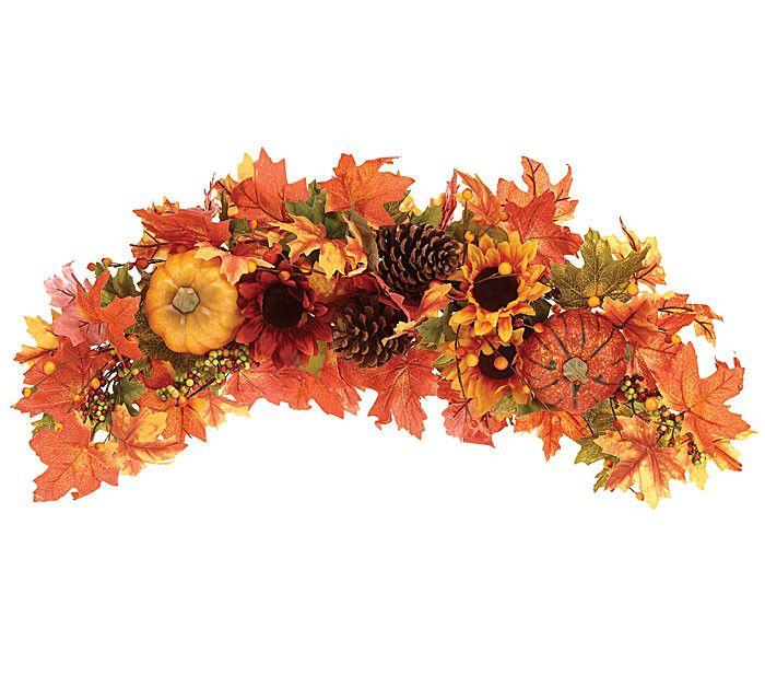 Pumpkin and Sunflower Swag