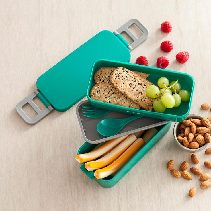 Eating lunch on the go? Pack healthy and economical lunches with a Bento 'Cory' Lunch Container. The microwave safe portable lunch container features multiple compartments to keep your food separate and delicious.