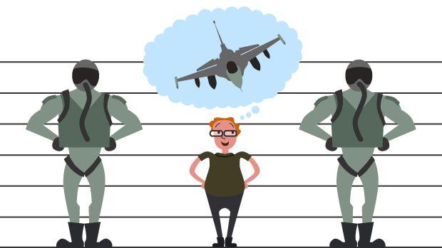 Du behøver ikke være supermand for at få F16-vinger | Nyheder | DR