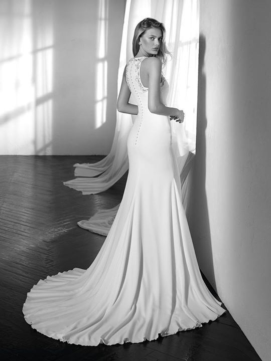 Back of Zafira wedding dress by Studio St. Patrick from Pronovias www.zadikabridal.ie