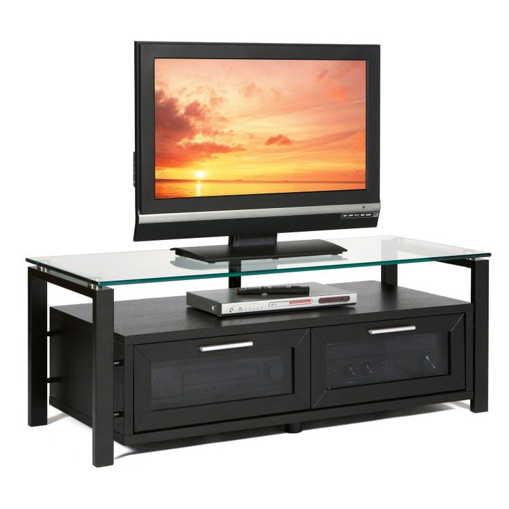 Plateau Decor 50 Inch TV Stand in Black on Black