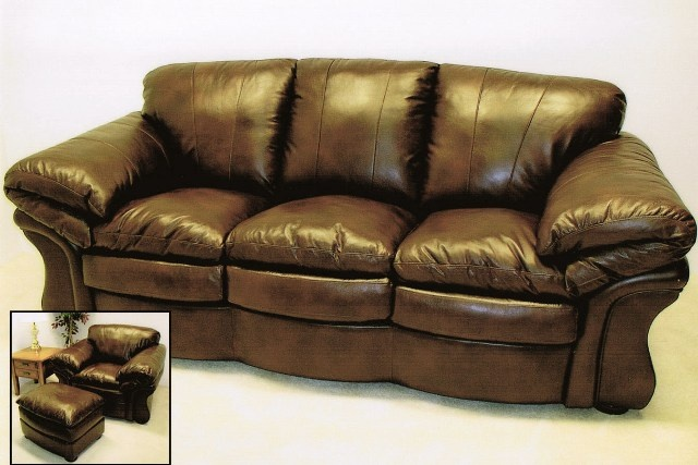 Overstuffed Leather Sofa X Jpg Coaster Furniture 501911 Overstuffed Leather Sofa In Brown