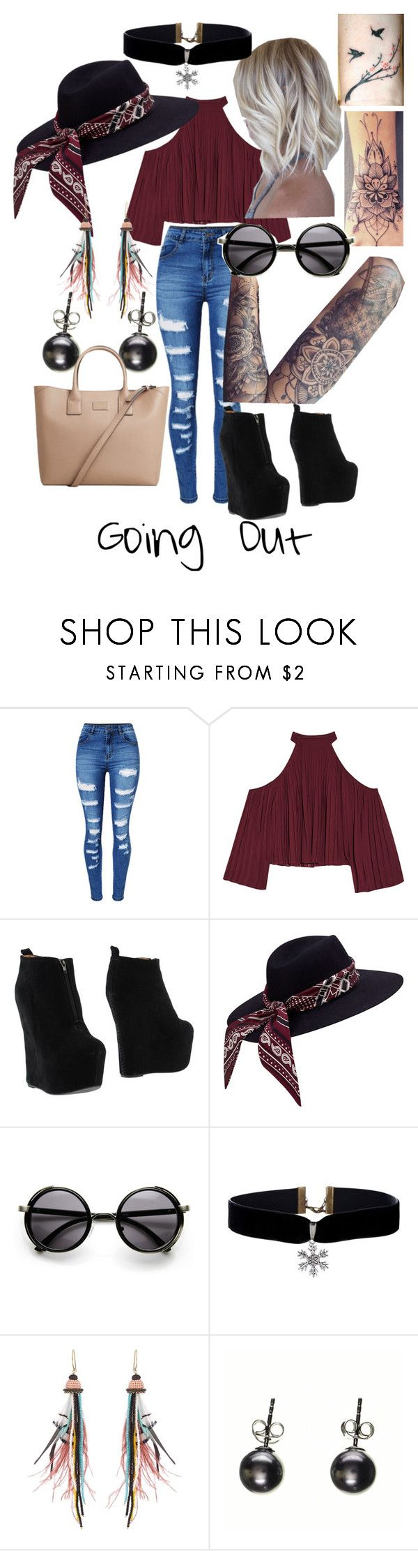"""""""Going Out"""" by j3029208g on Polyvore featuring WithChic, W118 by Walter Baker, Jeffrey Campbell, Etro, Black and MANGO"""