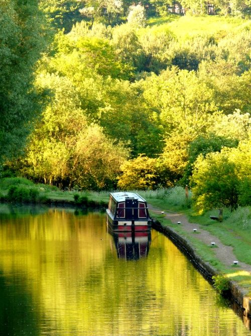 The Canal at Mossley, Greater Manchester
