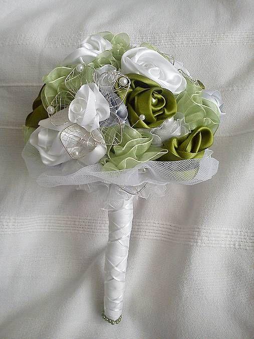 Svadobná kytica v zelenom by MayBee - SAShE.sk - Handmade Svadba