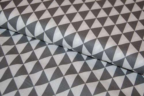 Bavlněná látka : Triangles - Antracit