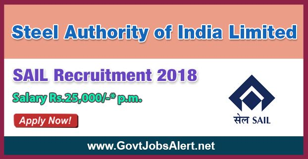 SAIL Recruitment 2018 – Walk in Interview for Medical Officers, Dentist and Medical Specialists Posts, Salary Rs.50,000/- : Apply Now !!!  The Steel Authority of India Limited - SAIL Recruitment 2018 has released an official employment notification inviting interested and eligible candidates to apply for the positions of Medical Officers, Dentist and Medical Specialists. The interested candidates have to attend the walk in interview to apply to the post in the prescribed