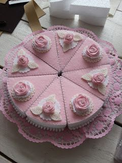 felt cake - filled with foam