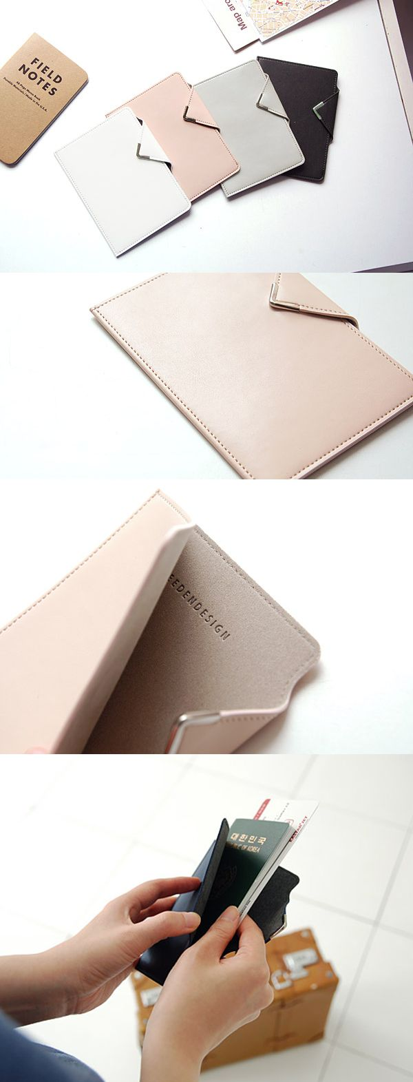 How chic! The simple design and classy touches make this passport holder super cute and elegant! Always travel in style. ^.~*