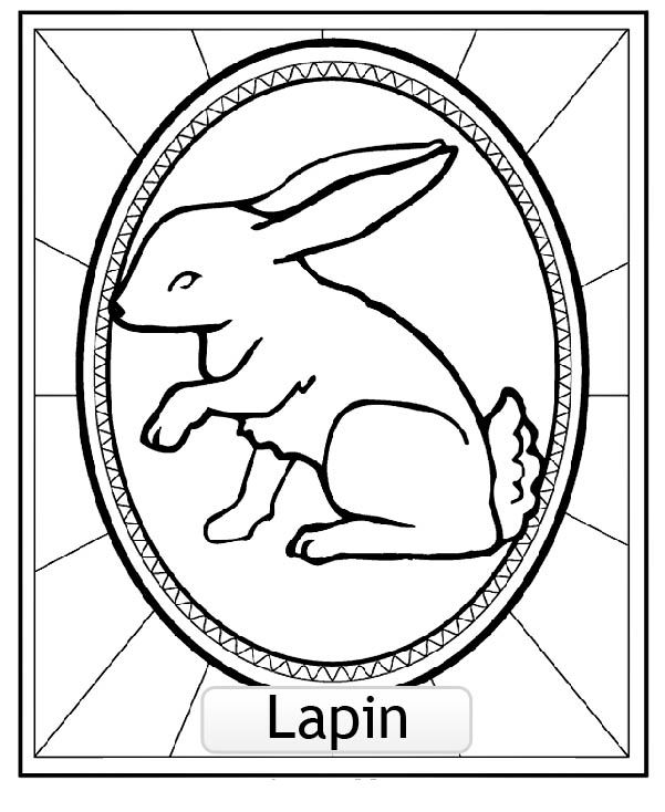 chinese new year year of the rabbit coloring page
