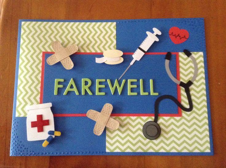 handmade farewell card for a nurse  greeting cards