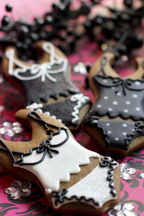 Lingerie cookies : Beautifully hand Iced biscuits | Juliet Stallwood Cakes & Biscuits