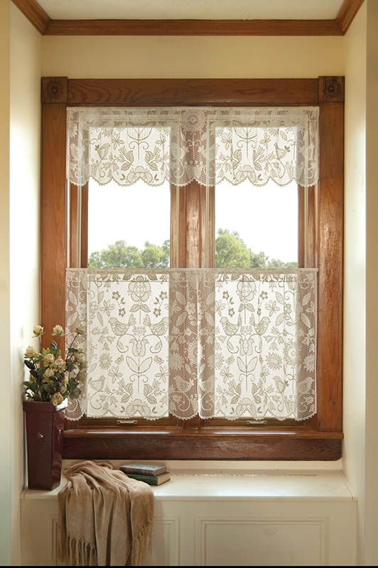 Rhapsody 30″ Tier 8505W-6030 – RETIRED | Lace Curtain Store