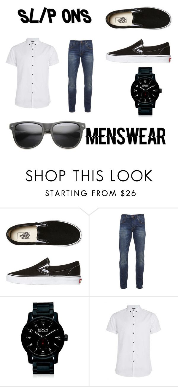 """Slip-ons for men look"" by bernardashley ❤ liked on Polyvore featuring Vans, Scotch & Soda, Nixon, Topman, ZeroUV, men's fashion, menswear and slipons"