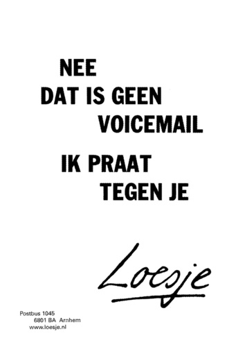 Voicemail | Loesje