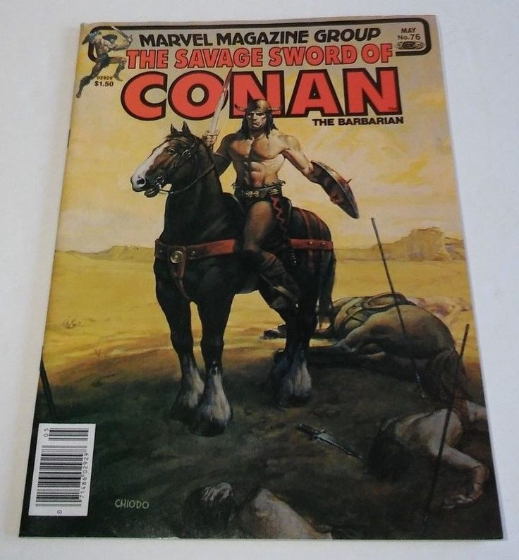 Marvel Magazine Group The Savage Sword Of Conan The Barbarian #76 Comic Book
