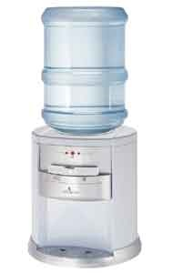 The Vitapur® hot, room and cold countertop water dispenser with a white finish is ideal for compact areas. The energy saving Insta-HOT feature as indicated by the Ready-To-Dispense lights rapidly provides hot water without the cost of constantly re-heating water. This traditional product is equipped with a stainless steel hot reservoir for superior long-lasting reliability. This water dispenser can be used with 3 or 5 gallon bottles and most water filtration systems.