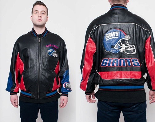 Wilsons Leather New York Giants NFL Jacket by rumors on Etsy, $98.00