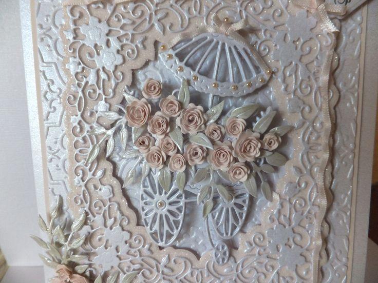 Flower cart card...close-up