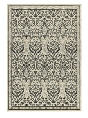 -29,800% OFF Classic Jardin Traditional Rug, Grey, 4' 7