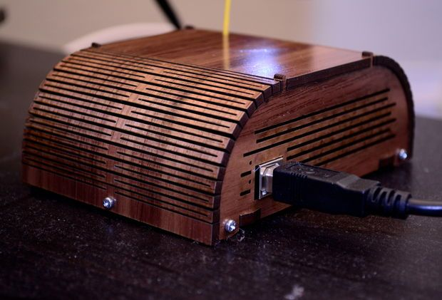 Laser-cut Arduino + radio enclosure