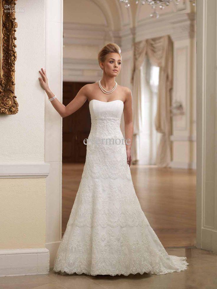 33 best Wedding Dresses images on Pinterest | Wedding frocks ...