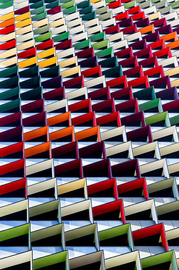 Origami Colorful Architecture Pattern – Photography by Jared Lim