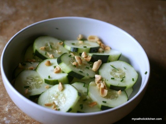 cucumber peanut salad super easy to make few ingredients could easily ...