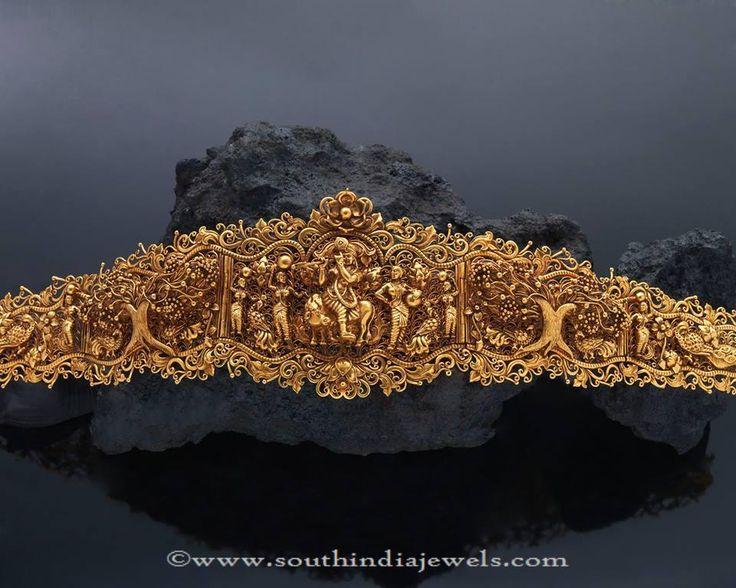 Gold Heritage Vadanam Designs, Gold Antique Vadanam Collections.