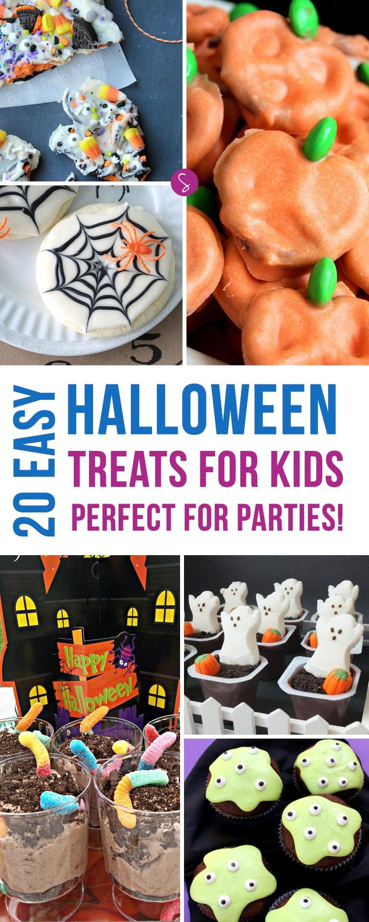 So many great ideas here for sweet treats for Halloween - love those monster cookies!