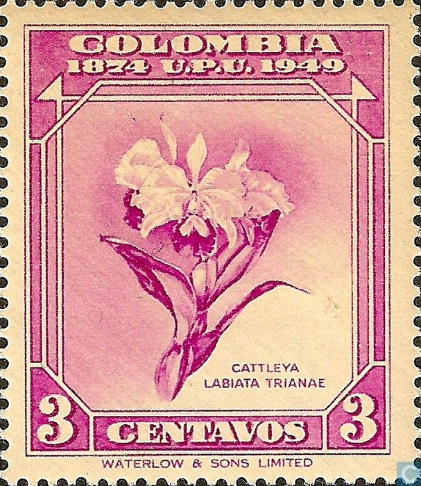 84 - Colombia [COL] - UPU 75 years 1950