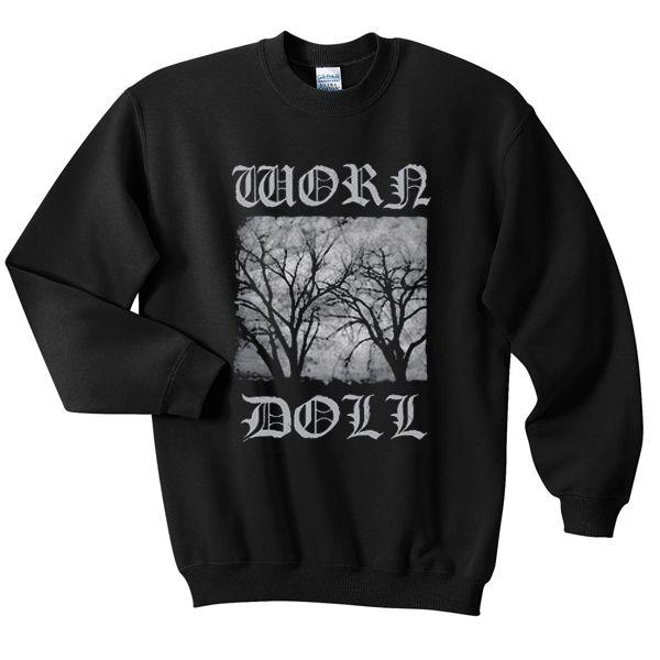 worn doll sweatshirt