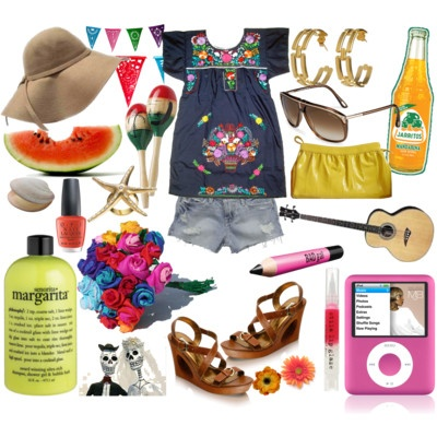 Cinco de Mayo fashion collage. Inspiration for what to wear to your next fiesta.