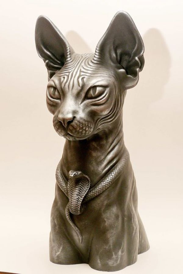 Картинки скульптур кошек