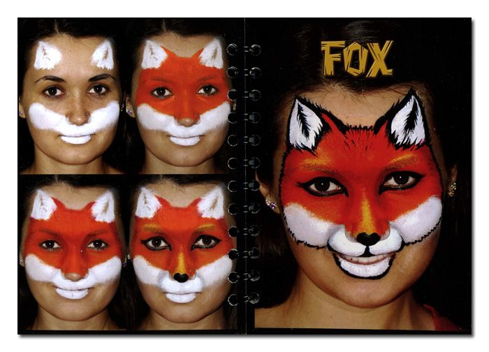 fox+face+painting+ideas | ... . Step-By-Step Face Art. Face Painting designs. Face painting ideas