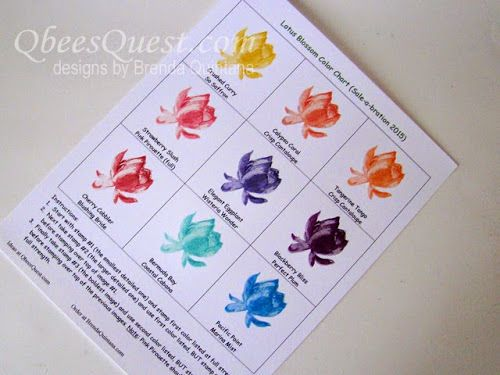 2015 how to use two ink colors to get the maximum depth and realism out of the lotus blossom stamp. I also created a chart to show you my favorite color combos. You can download a blank coy of my COLOR CHART HERE.
