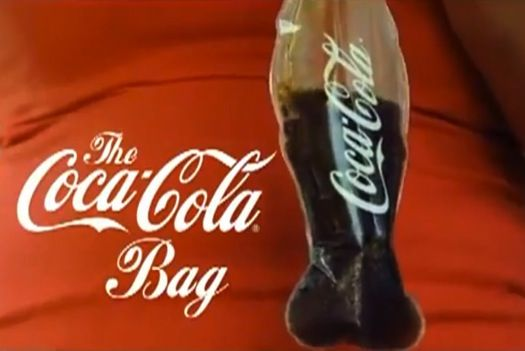 How awesome are these Eco-Friendly Coca-Cola 'Bottle-Shaped' Plastic Bags!?