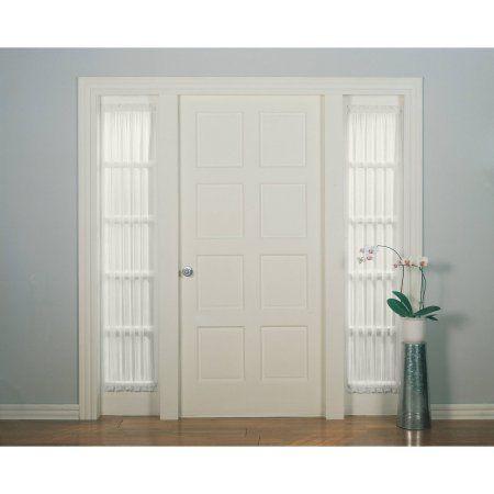 Mainstays Marjorie Sidelight Curtain Panel, 28x72, White