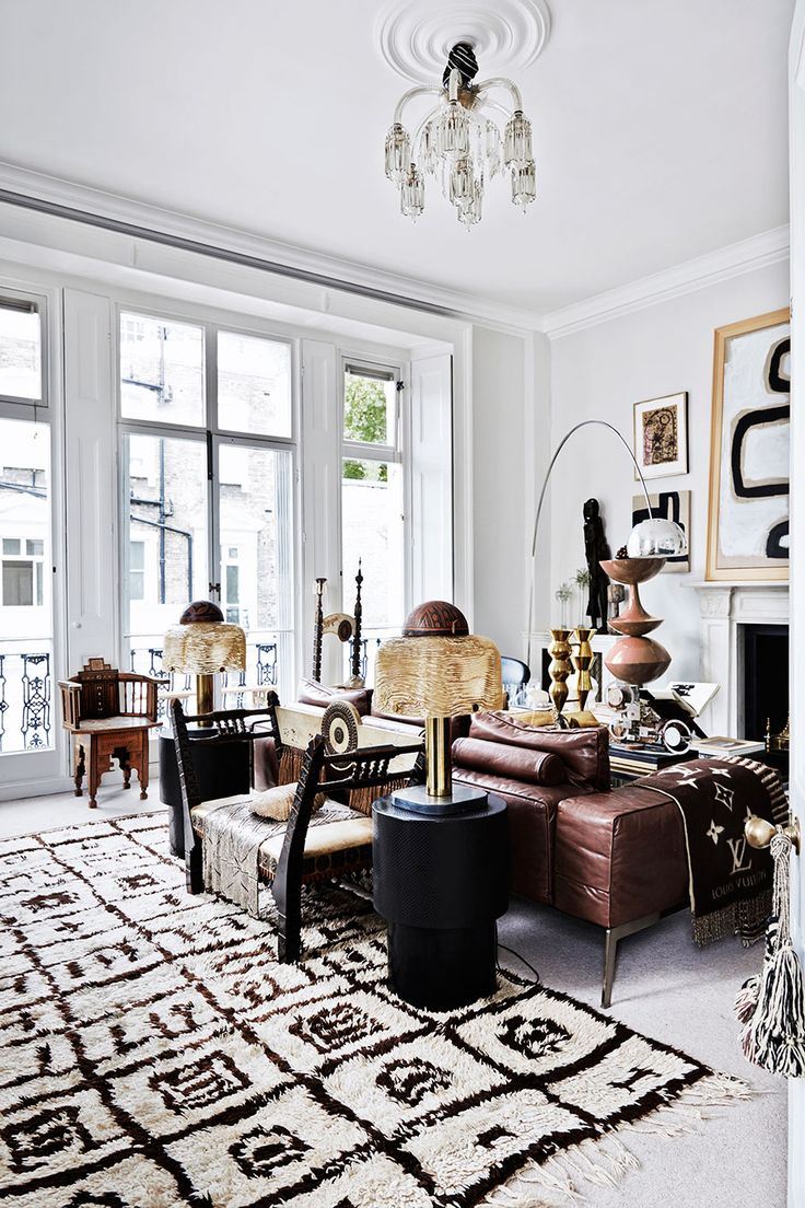Scandinavian living - striking monochrome palate -malene-birger-london-vardagsrum_livingroom