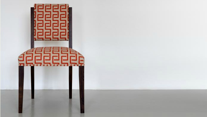 Chair upholstered in Link in Poppy
