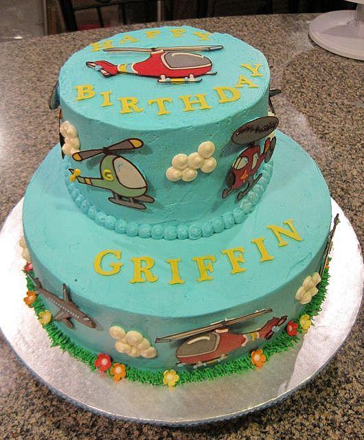 Helicopter & Airplane Cake by jlmooraj, via Flickr