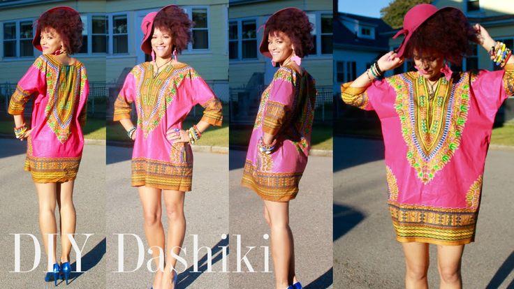 DIY African Dashiki Dress in 7 min   10% Discount on African Print Fabrics