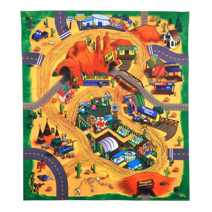 Race met je auto's over deze coole speelmat. Je kunt je eigen auto's gebruiken maar bij deze mat zit ook een auto. Nu kun je met jouw wagen door de woestijn racen! De 10 verschillende, apart te bestellen matten passen allemaal aan elkaar. Afmeting: 70 x 80 cm. - Speelmat met Auto Woestijn